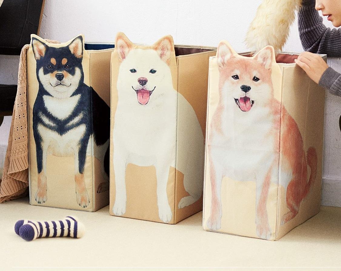 フェリシモの「柴犬収納ボックス」きたー!便利で可愛すぎてやばい!!