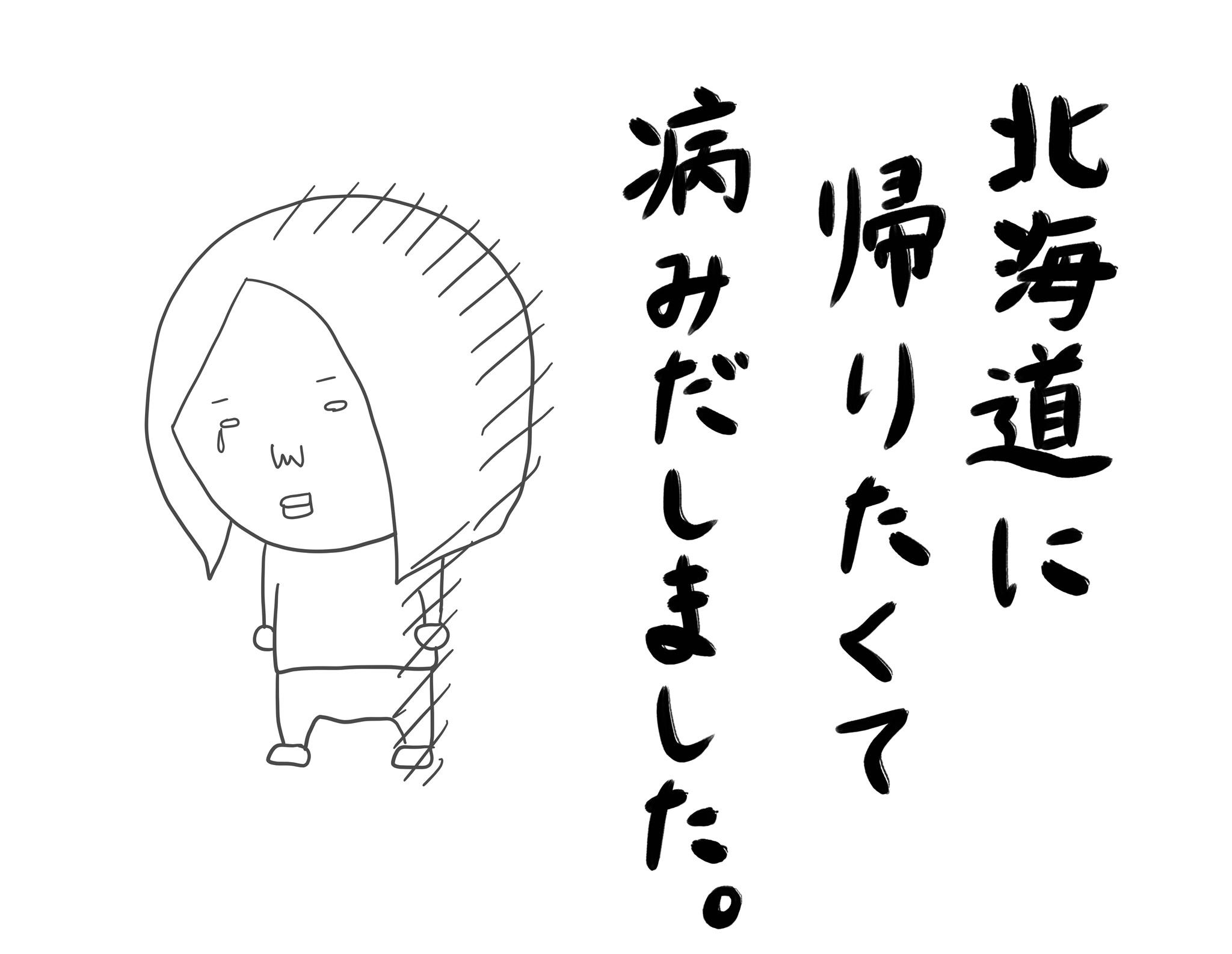 北海道に帰りたくて「故郷に帰りたい病」を発症しておりました。