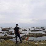 「道の駅ちくら潮風王国」の芝生と岩場で柴犬まると気分転換!