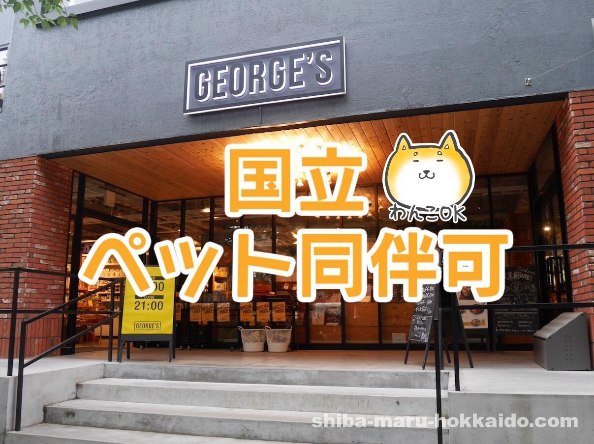 国立の店内ペット可カフェ「ask a giraffe(アスクアジラフ)」で柴犬まるとランチ!