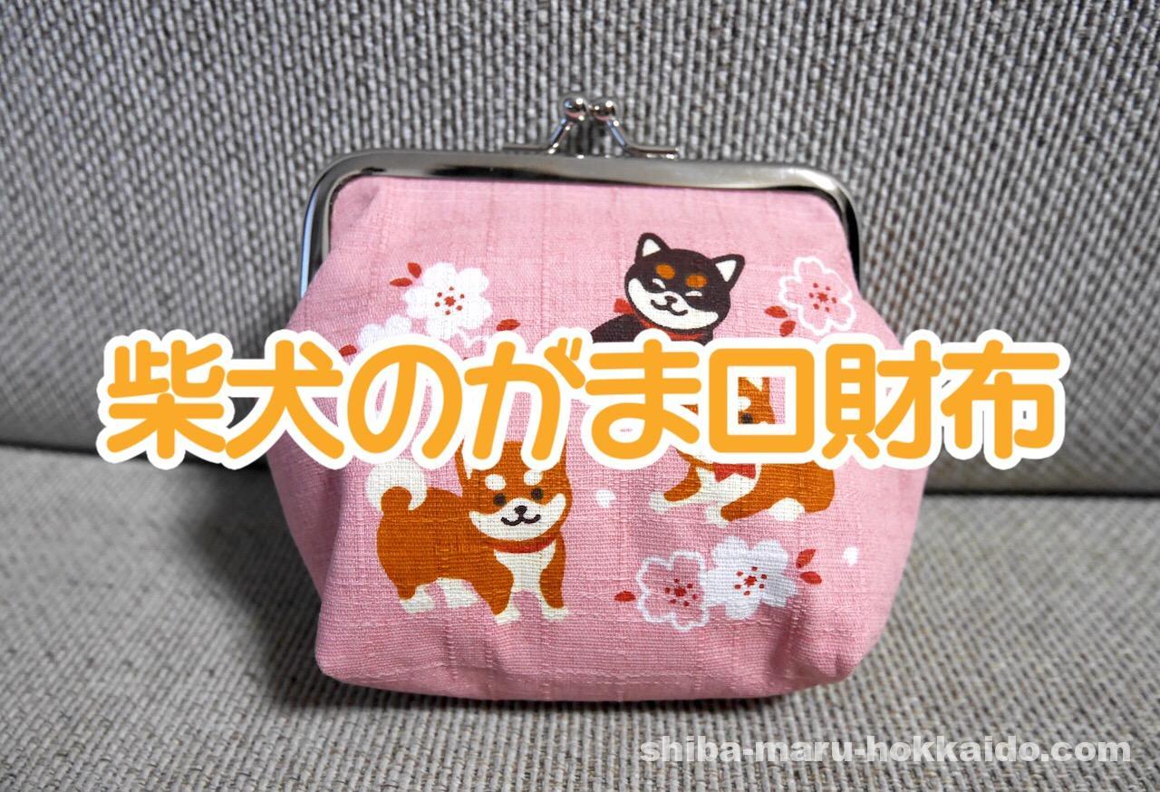 母から送られてきた柴犬のピンクがま口財布が可愛いので自慢してみる
